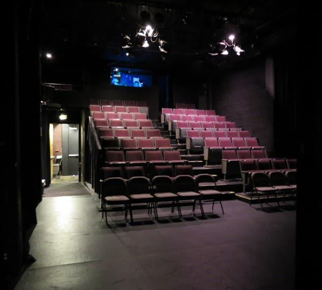 View of audience seating from an actors point of view