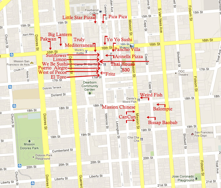 restaurant map