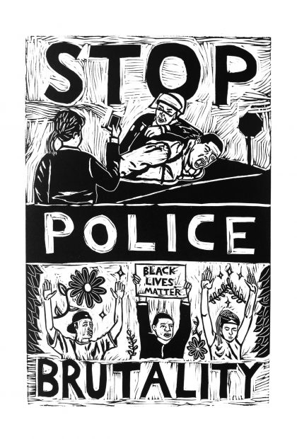 Stop Police Brutality artwork https://www.joincampaignzero.org