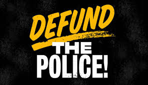 Defund the Police logo https://indivisible.org/defund-police-and-invest-black-communities