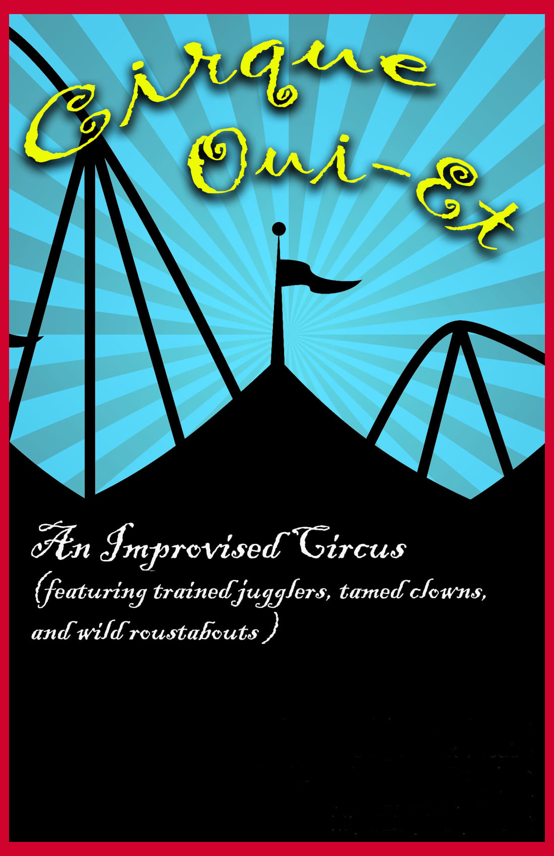 Cirque oui et poster monthly show